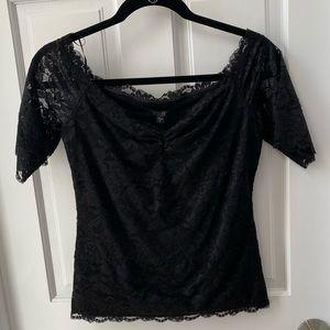 Fancy Guess Lace Black Top